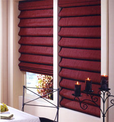 Teardrop Fold Statement in Wine with Fabric Valance