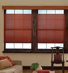 Bali Pleated Shade shown in color Reflections Cayenne