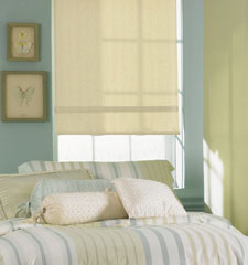 Bali roller shade shown in color Manhattan Light Filtering Leisure Green