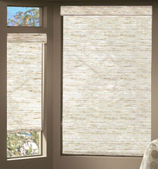 Bali® Rafia Roller shade shown in color Prairie