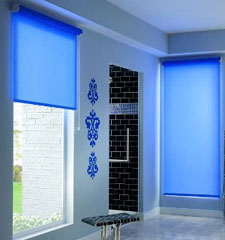 Bali® Chorus Roller shade shown in color Blue