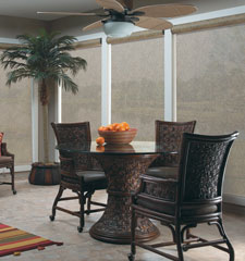 Bali solar shade shown in color Lanai Chestnut
