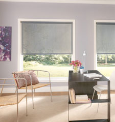 Bali® Lucence Solar Shade shown in color Gray Mist