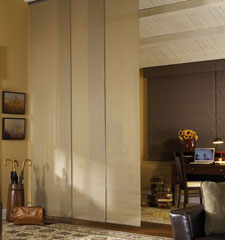 Manhattan Room Darkening Sliding Panel shown in colour Muslin