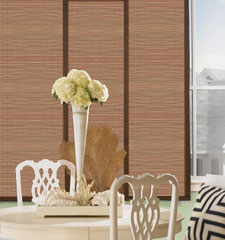 Bali Caracas Sliding Panel shown in colour Honey with Spire Sable Edge Bindings