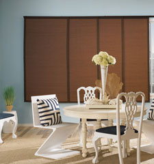 Nicaragua Sliding Panel shown in colour Chocolate